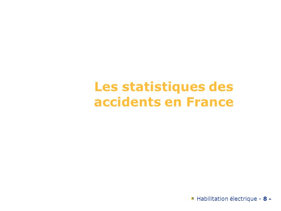 Les statistiques des accidents en France