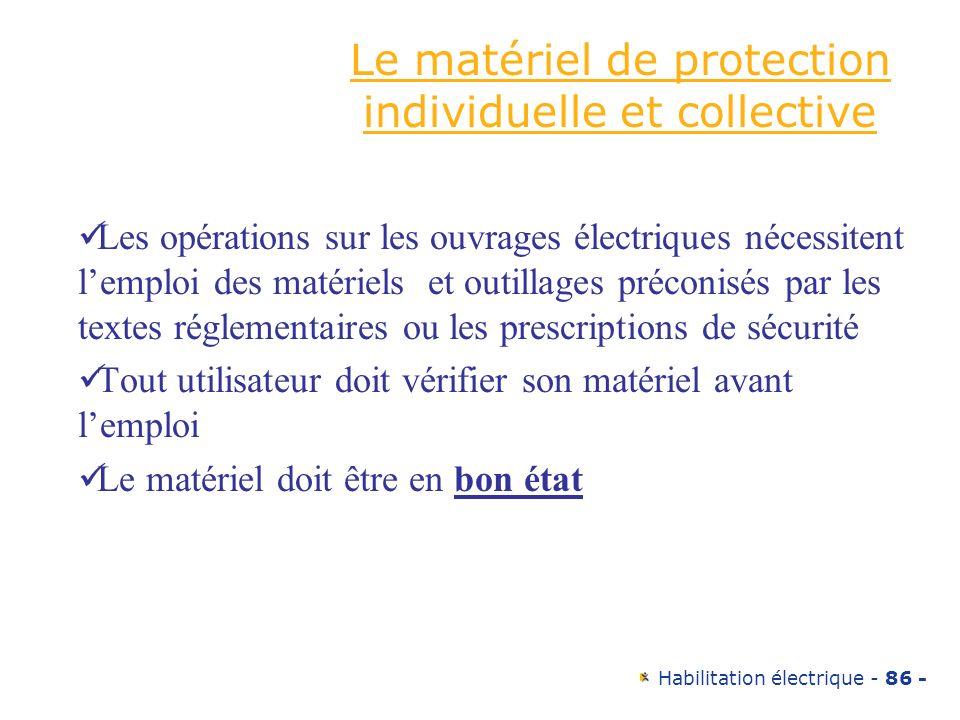 Le matériel de protection individuelle et collective