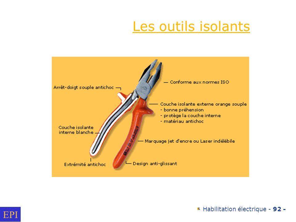 Les outils isolants EPI
