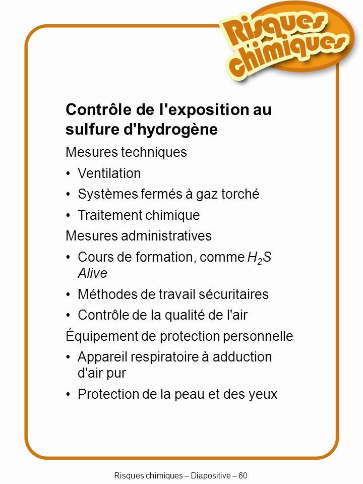 Risques chimiques – Diapositive – 31