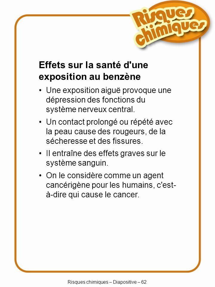 Risques chimiques – Diapositive – 33