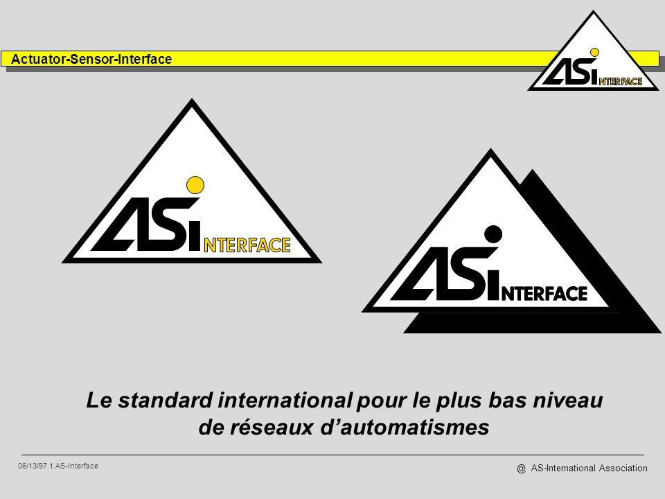 AS-Interface a été développé afin de minimiser les coûts de connexion des capteurs, des actionneurs et des systèmes intégrés.