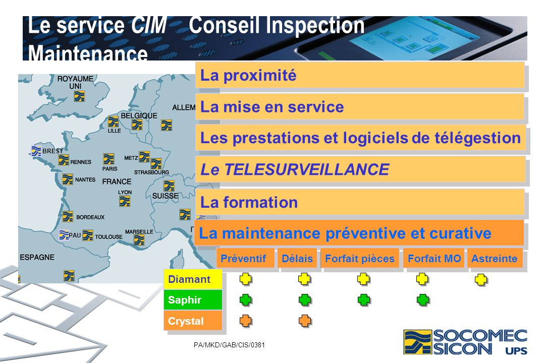 Le service CIM Conseil Inspection Maintenance