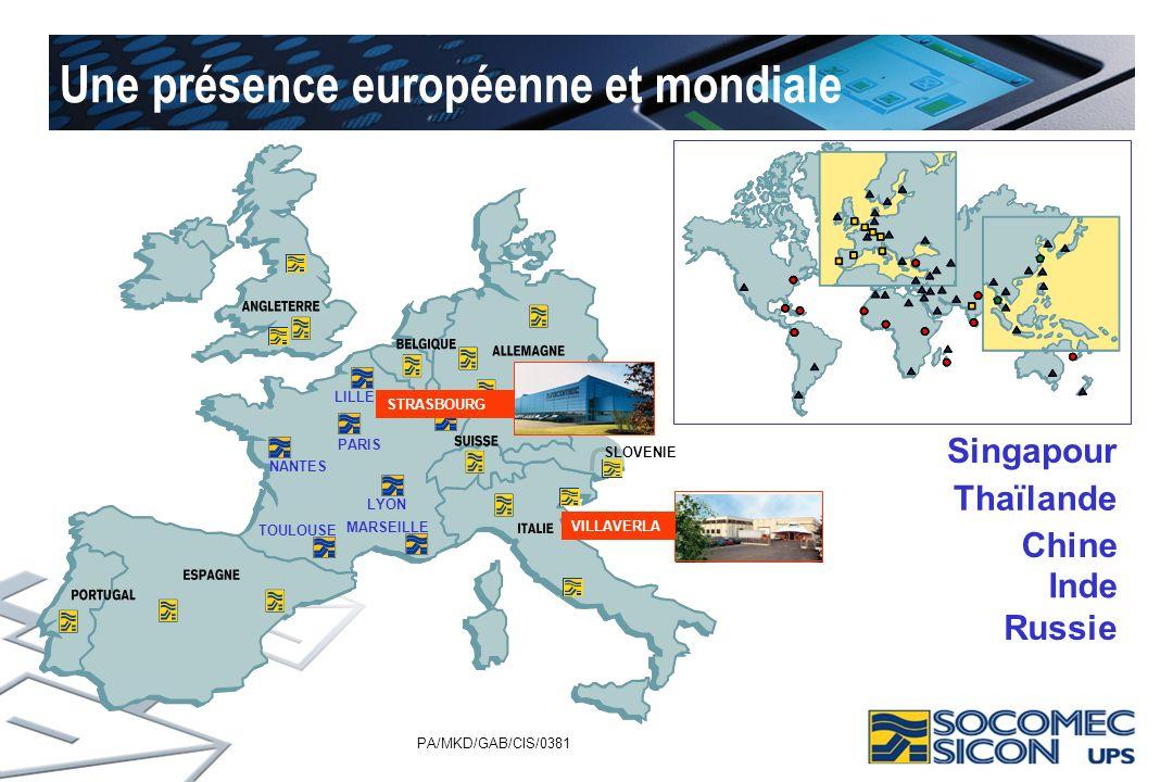 Une présence européenne et mondiale