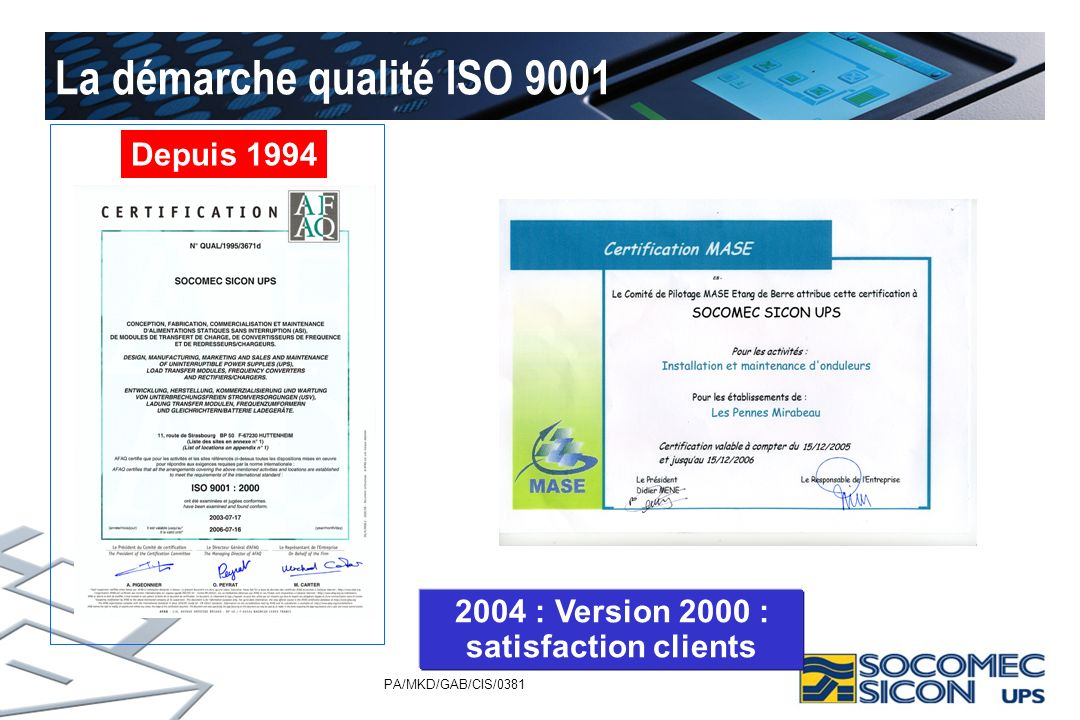 La démarche qualité ISO 9001