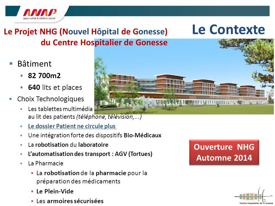 Le ContexteLe Projet NHG (Nouvel Hôpital de Gonesse) du Centre Hospitalier de Gonesse. Bâtiment. 82 700m2.