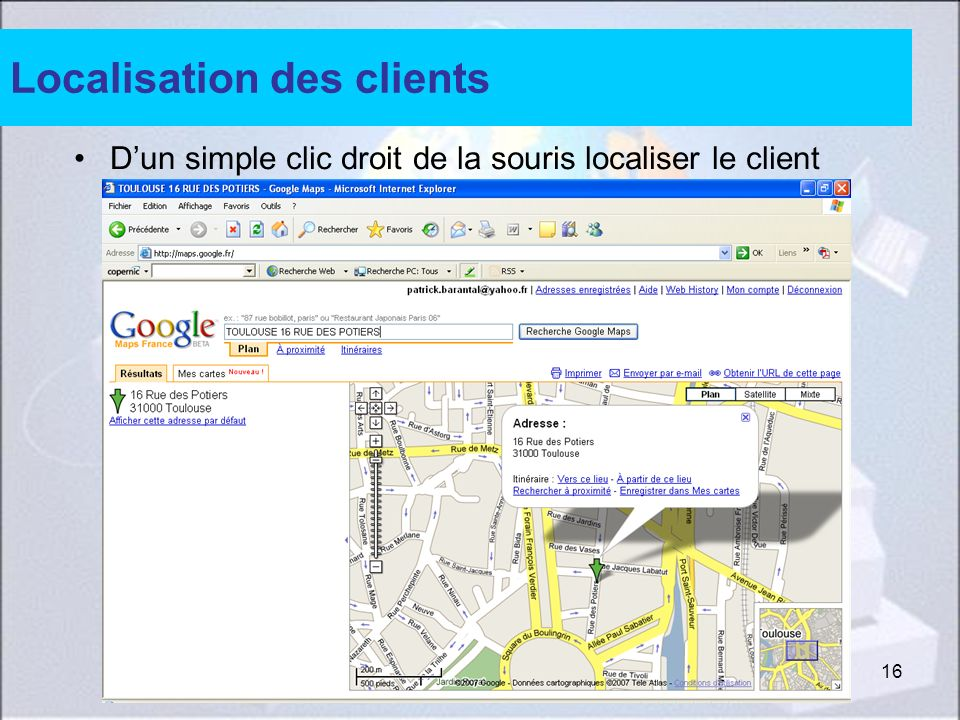 Localisation des clients