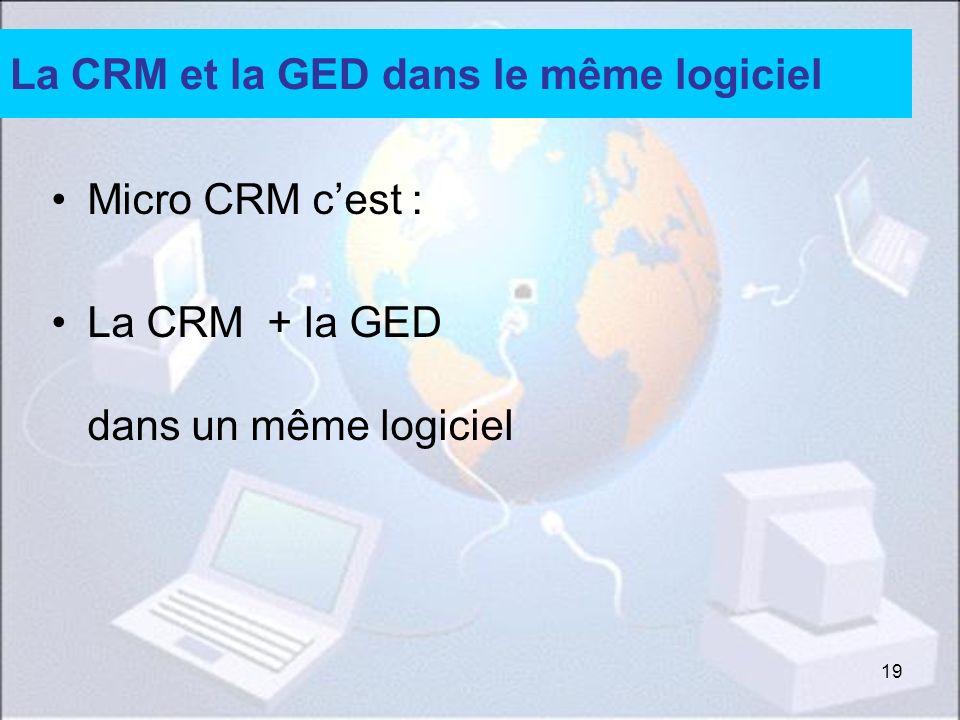 La CRM et la GED dans le même logiciel