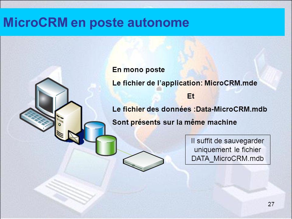 MicroCRM en poste autonome