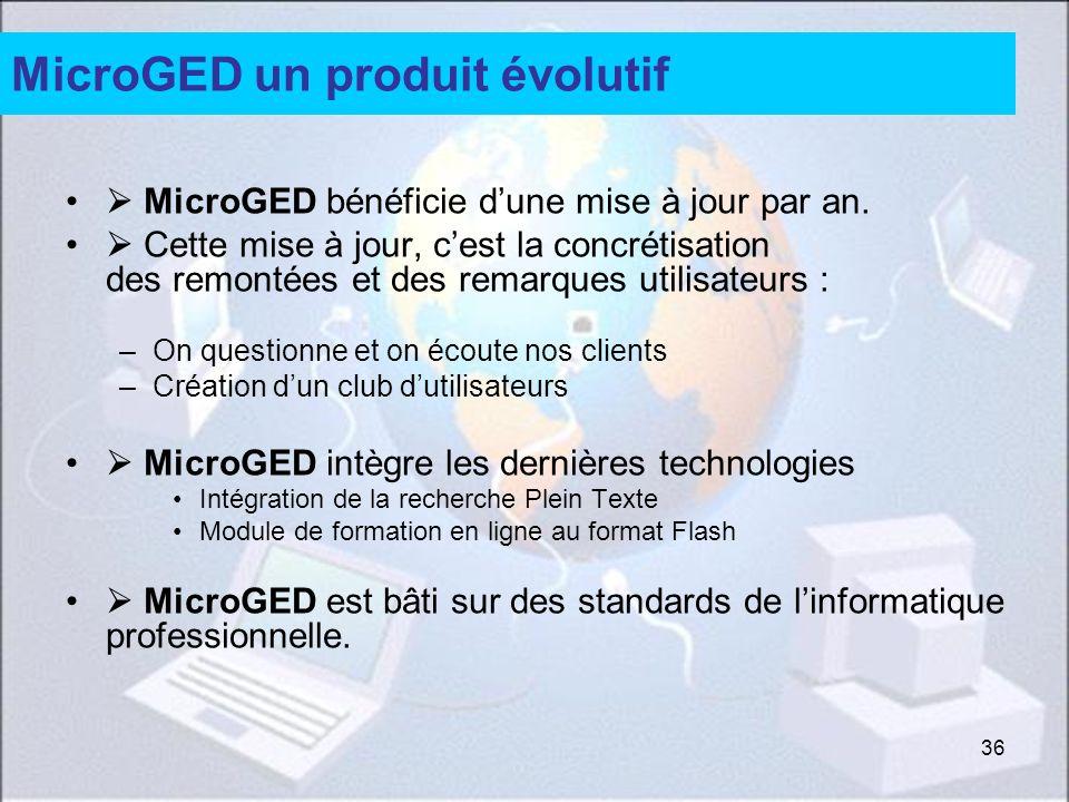 MicroGED un produit évolutif