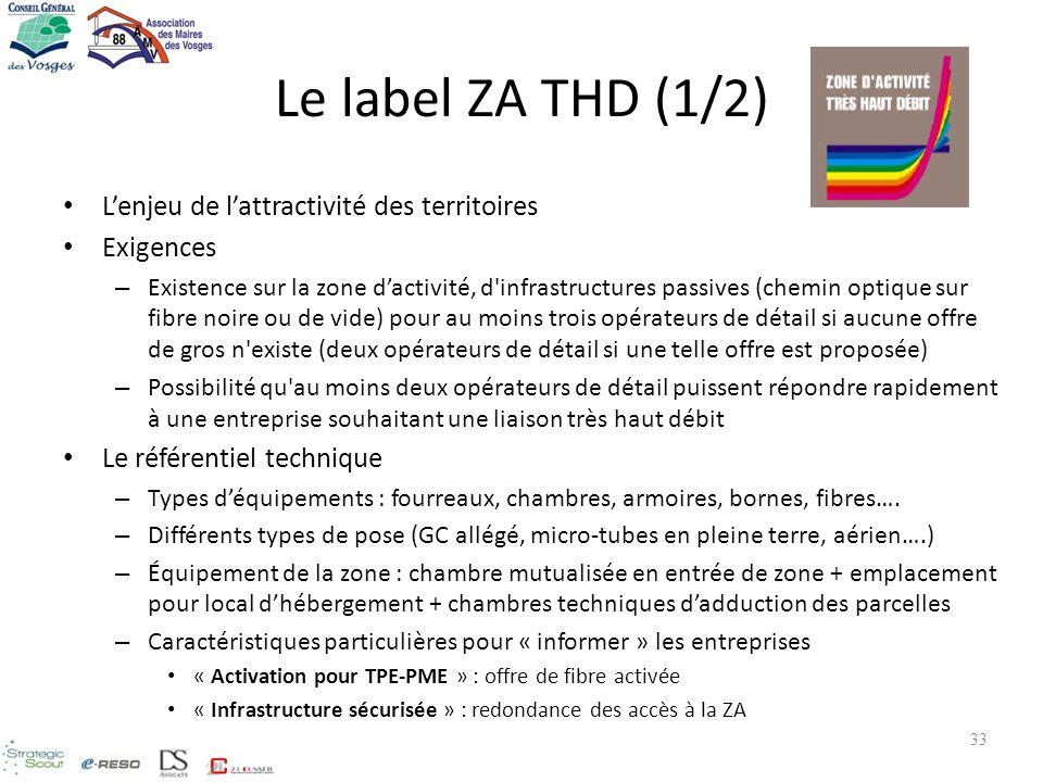 Le label ZA THD (1/2) L'enjeu de l'attractivité des territoires