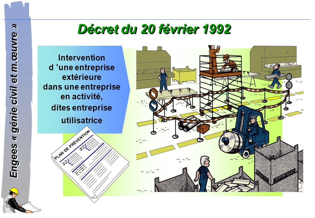 Décret du 20 février 1992 Intervention d 'une entreprise extérieure