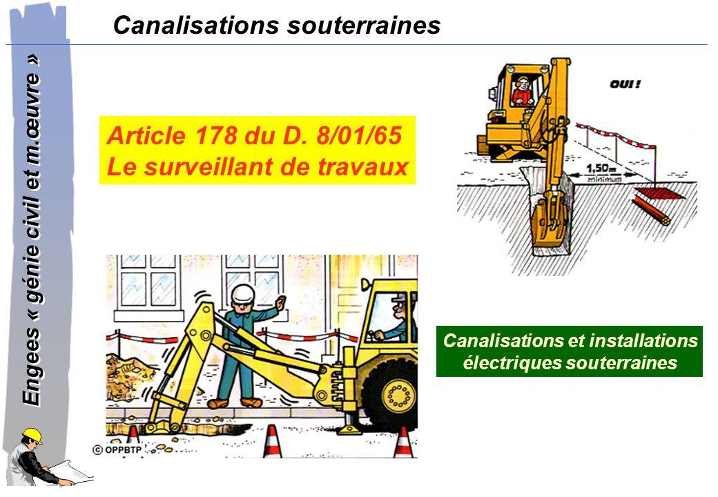 Canalisations et installations électriques souterraines