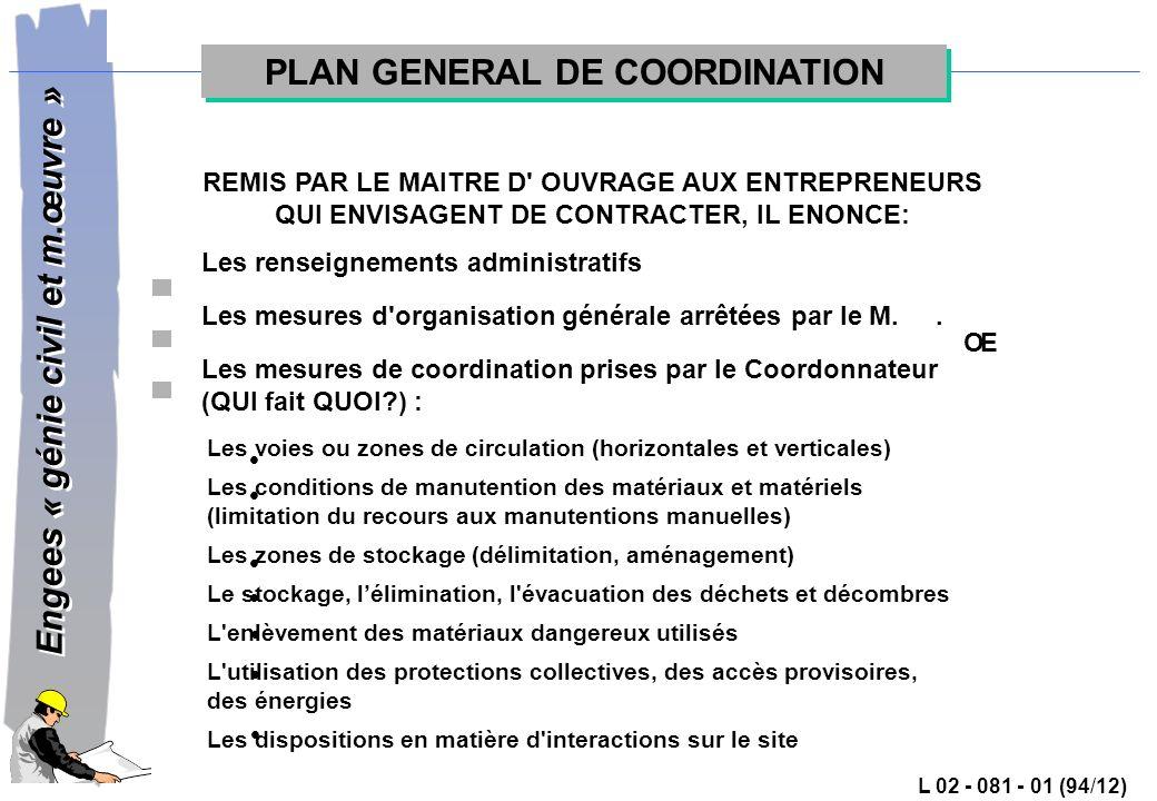 PLAN GENERAL DE COORDINATION