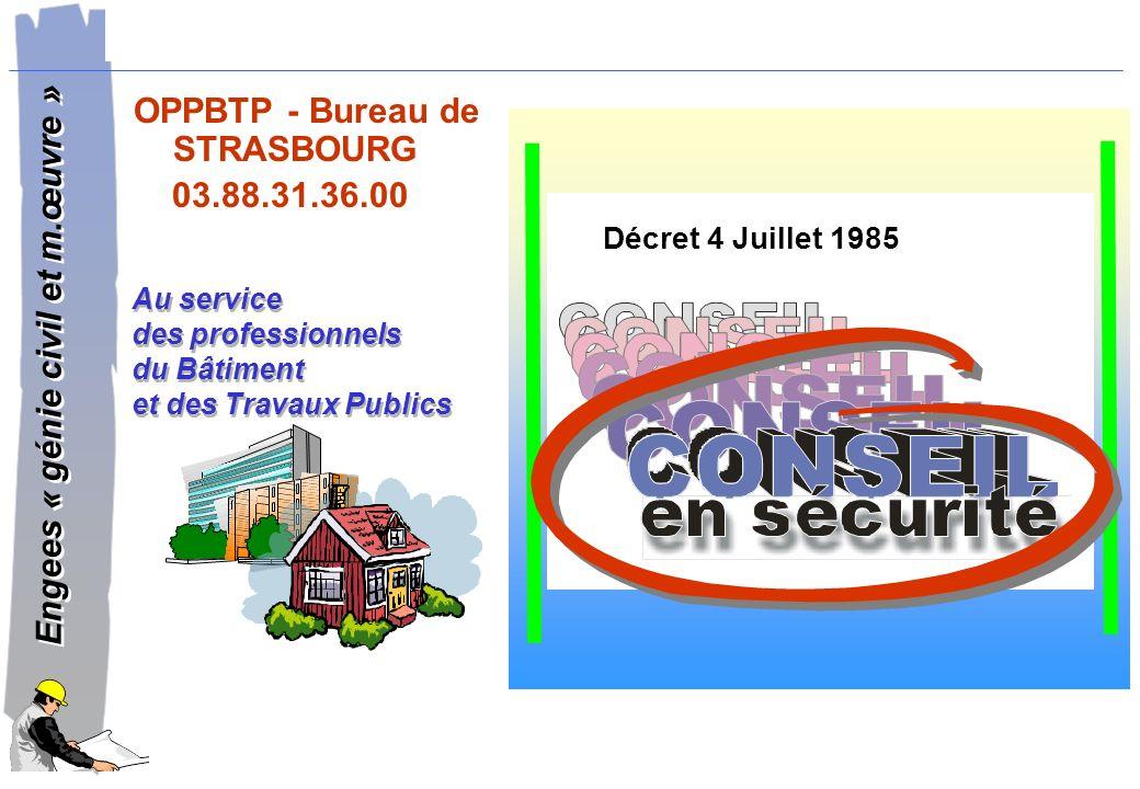 OPPBTP - Bureau de STRASBOURG 03.88.31.36.00