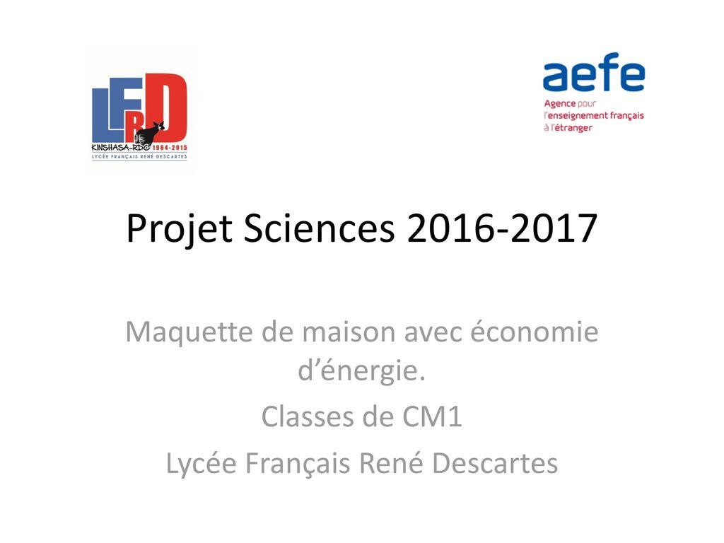 projet sciences 2016 2017 maquette de maison avec conomie dnergie - Classe D Energie D Une Maison