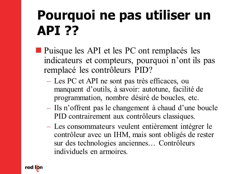 Pourquoi ne pas utiliser un API