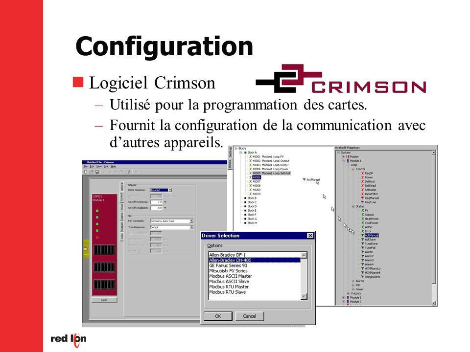 Configuration Logiciel Crimson