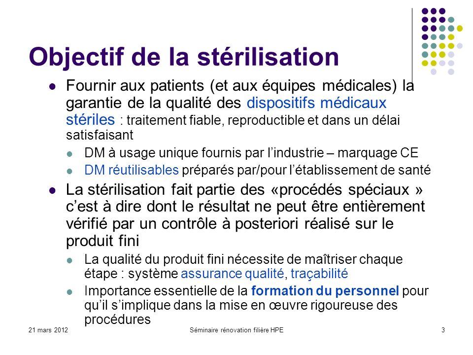 Objectif de la stérilisation