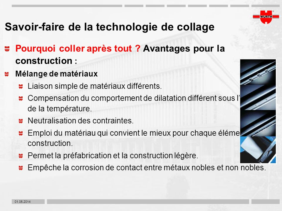 Savoir-faire de la technologie de collage