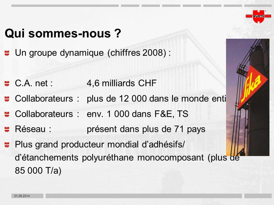 Qui sommes-nous Un groupe dynamique (chiffres 2008) :