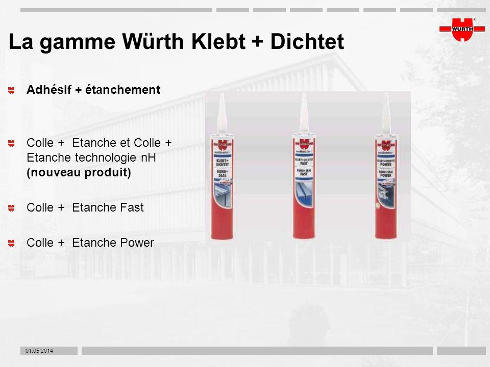 La gamme Würth Klebt + Dichtet