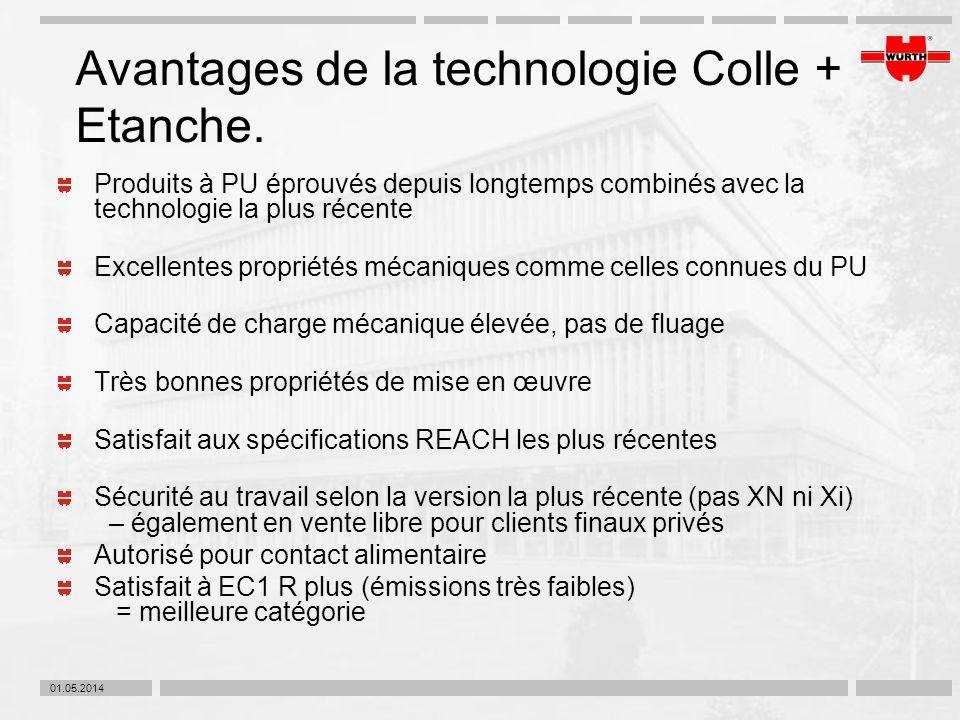 Avantages de la technologie Colle + Etanche.