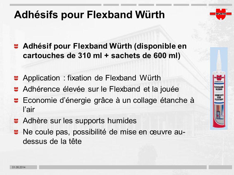 Adhésifs pour Flexband Würth