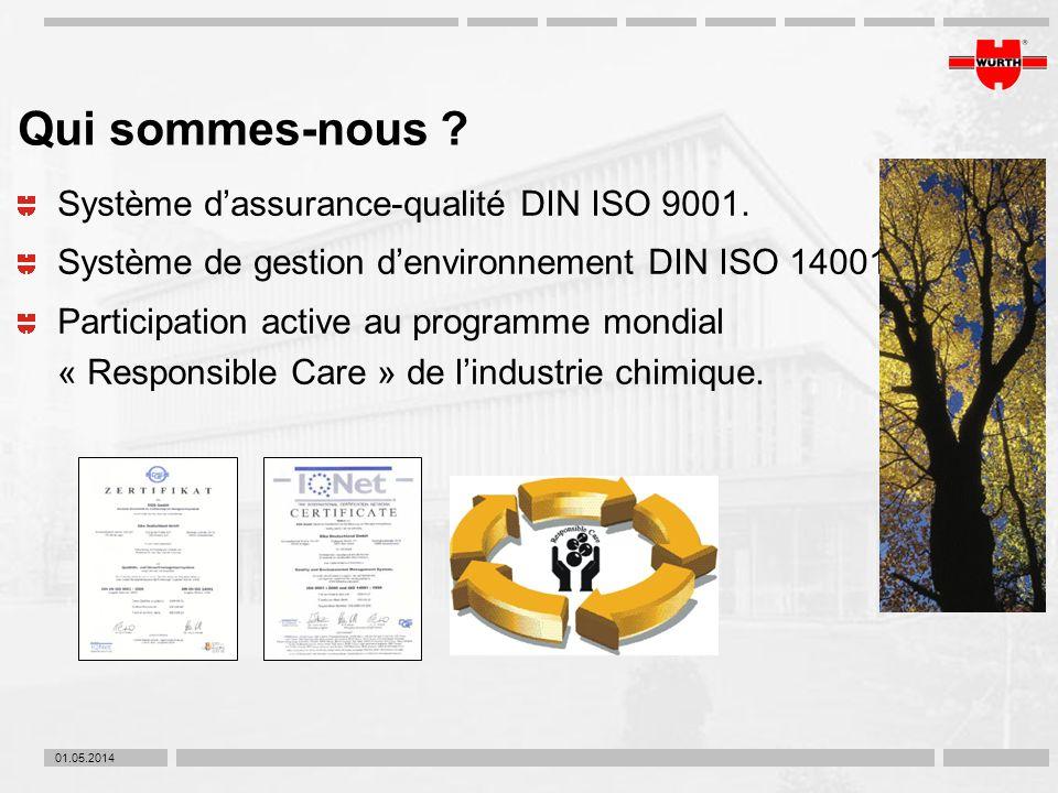 Qui sommes-nous Système d'assurance-qualité DIN ISO 9001.