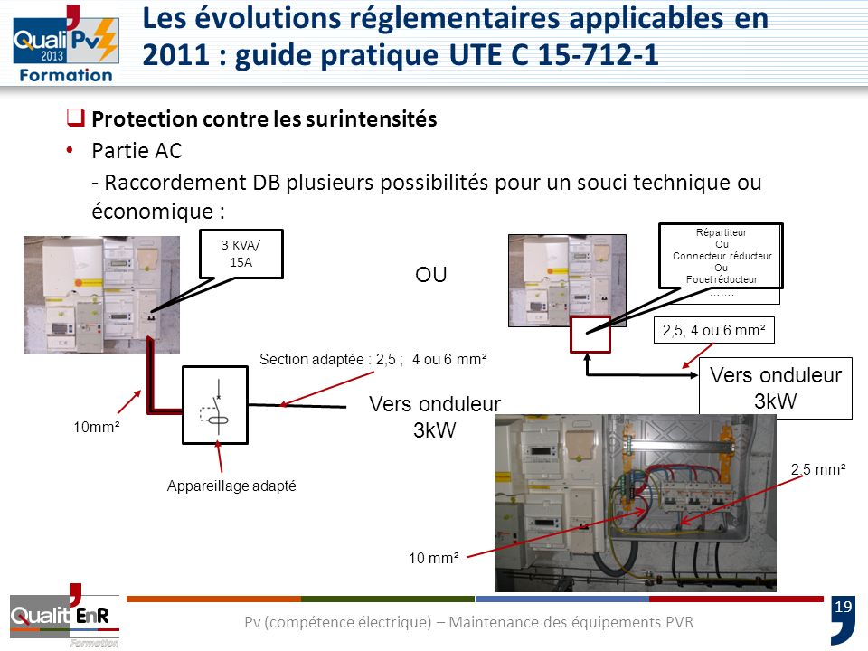Pv (compétence électrique) – Maintenance des équipements PVR