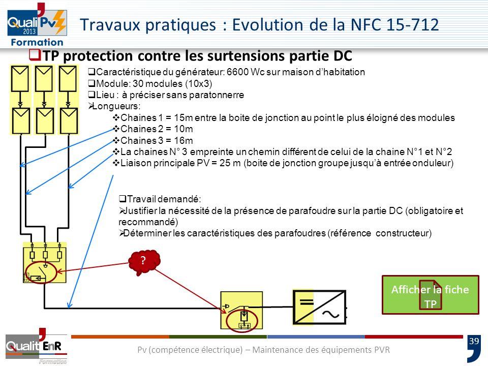 Travaux pratiques : Evolution de la NFC 15-712