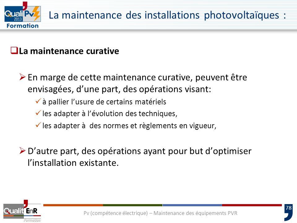 La maintenance des installations photovoltaïques :