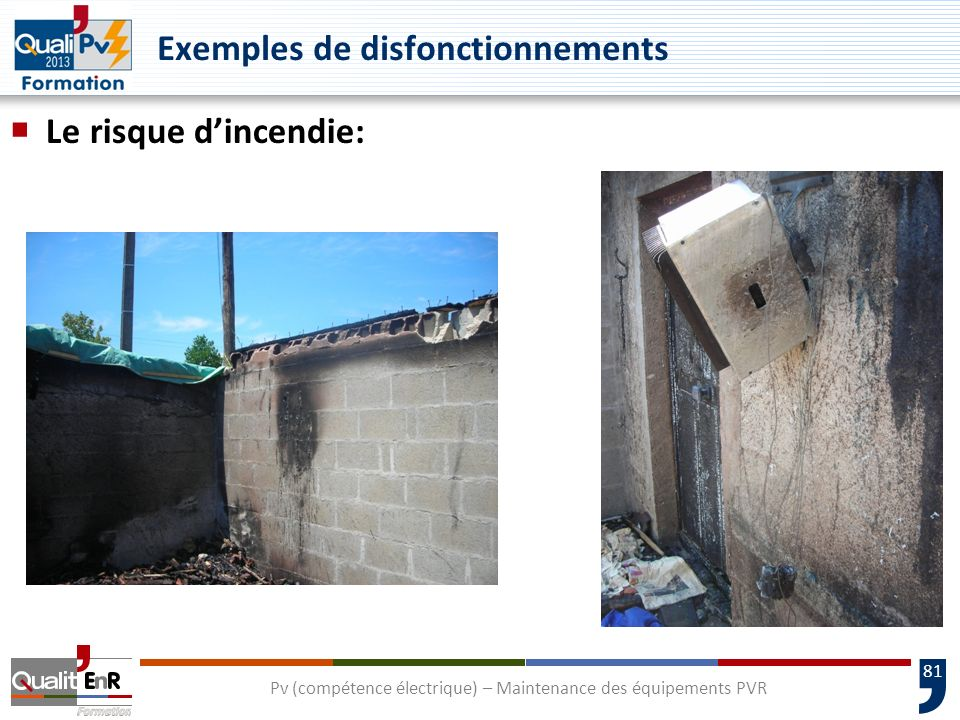 Exemples de disfonctionnements