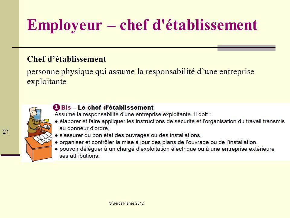 Employeur – chef d établissement