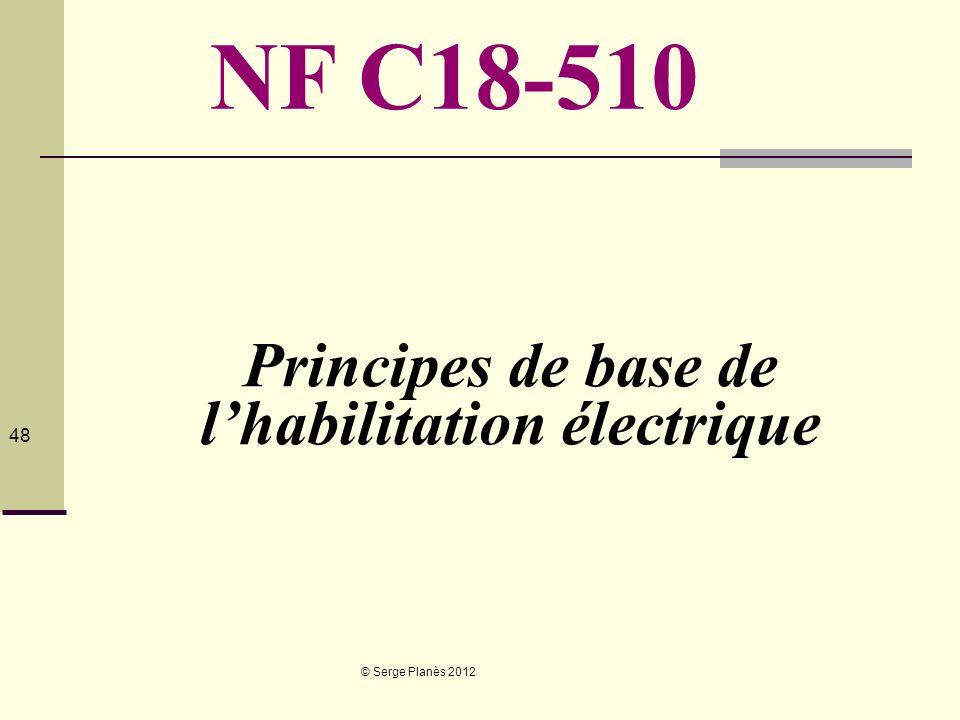 Principes de base de l'habilitation électrique