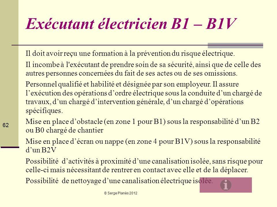 Exécutant électricien B1 – B1V