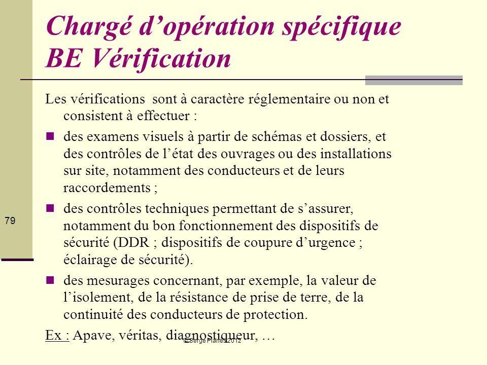 Chargé d'opération spécifique BE Vérification