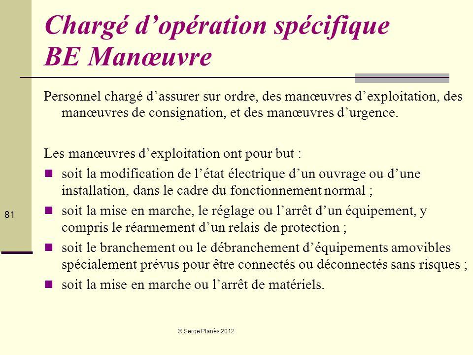 Chargé d'opération spécifique BE Manœuvre