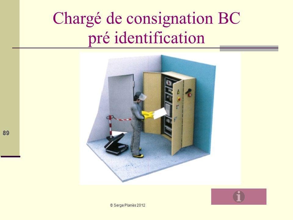 Chargé de consignation BC pré identification