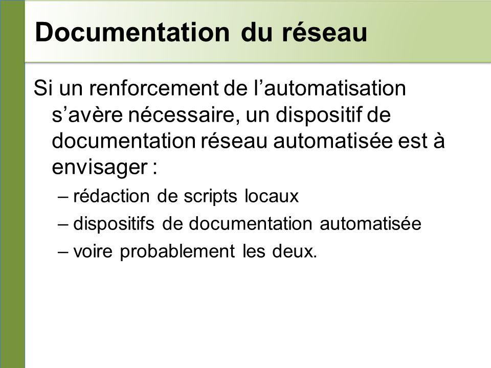 Documentation du réseau