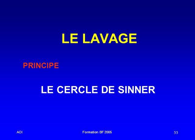 LE LAVAGE PRINCIPE LE CERCLE DE SINNER AOI Formation BF 2005 33 43
