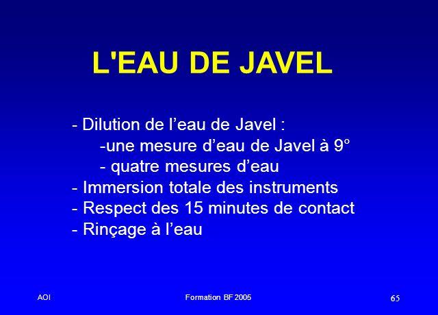 L EAU DE JAVEL Dilution de l'eau de Javel :