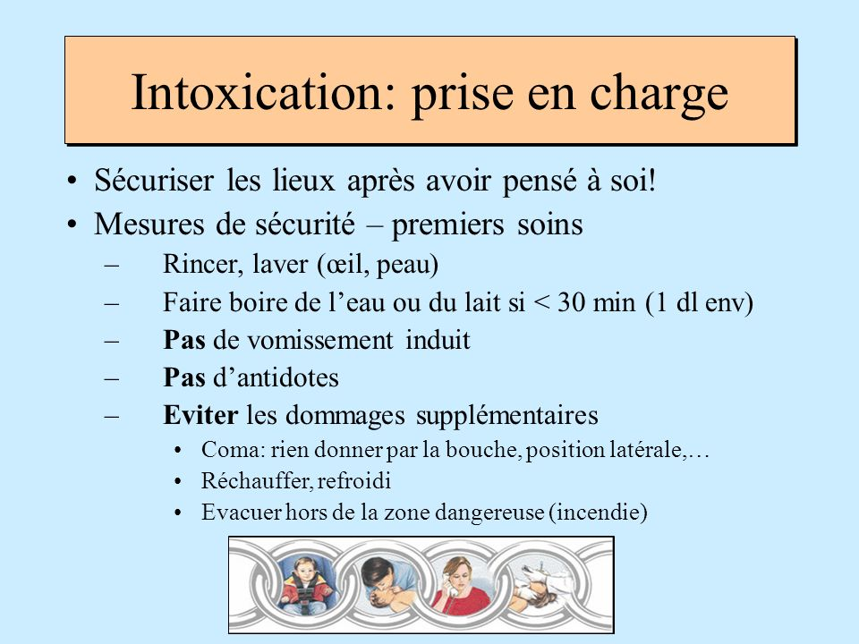 Intoxication: prise en charge