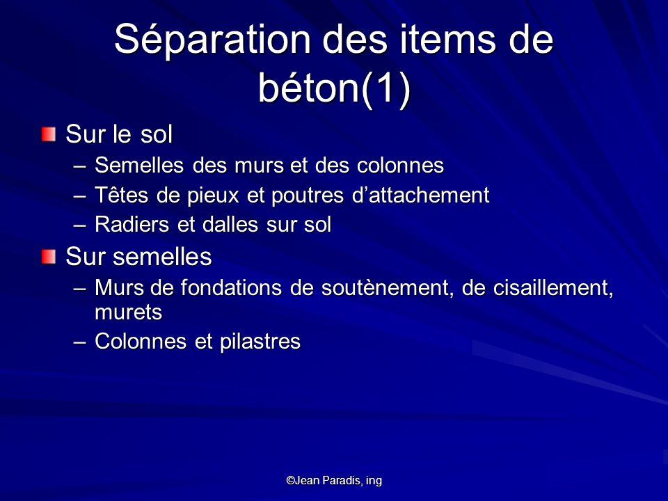 Séparation des items de béton(1)