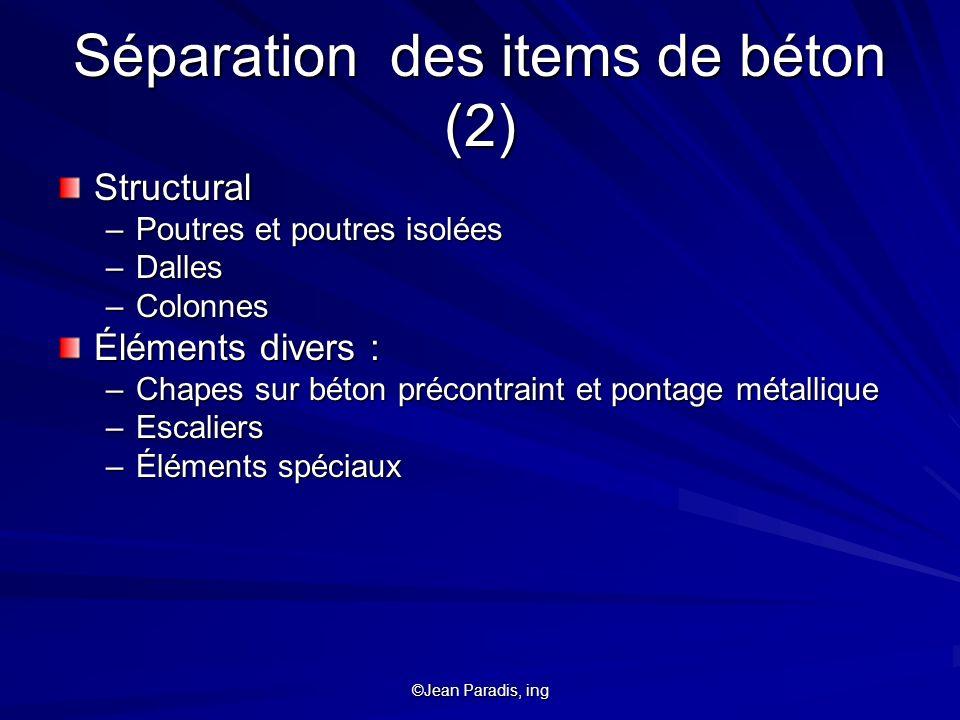 Séparation des items de béton (2)