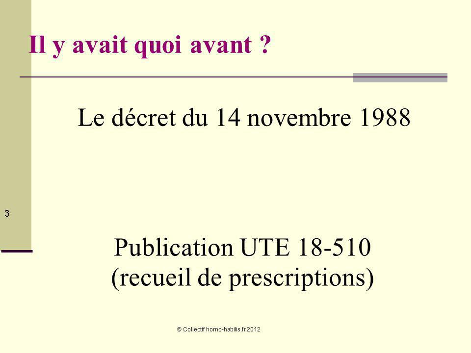 Publication UTE 18-510 (recueil de prescriptions)