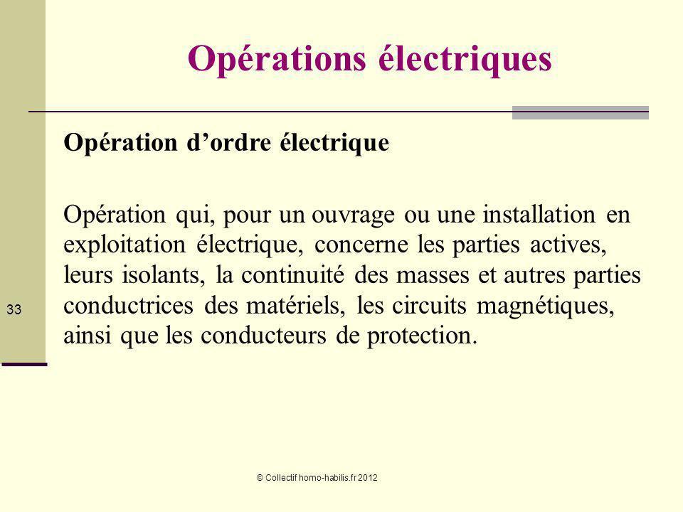 Opérations électriques