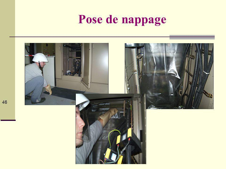 Pose de nappage ZONE DE VOISINAGE RENFORCE BT (Zone 4) :