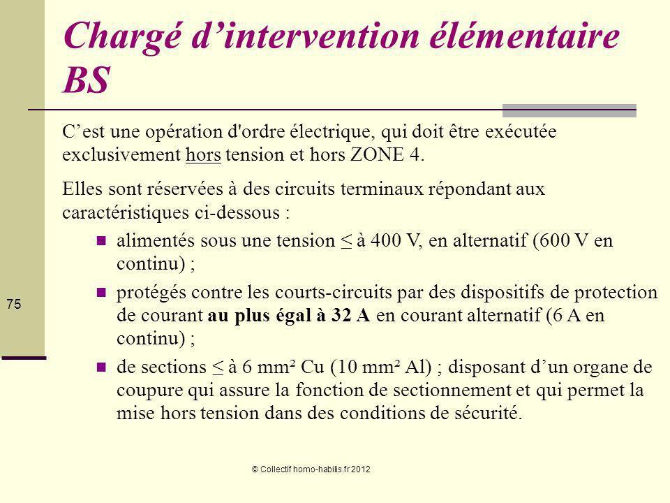 Chargé d'intervention élémentaire BS