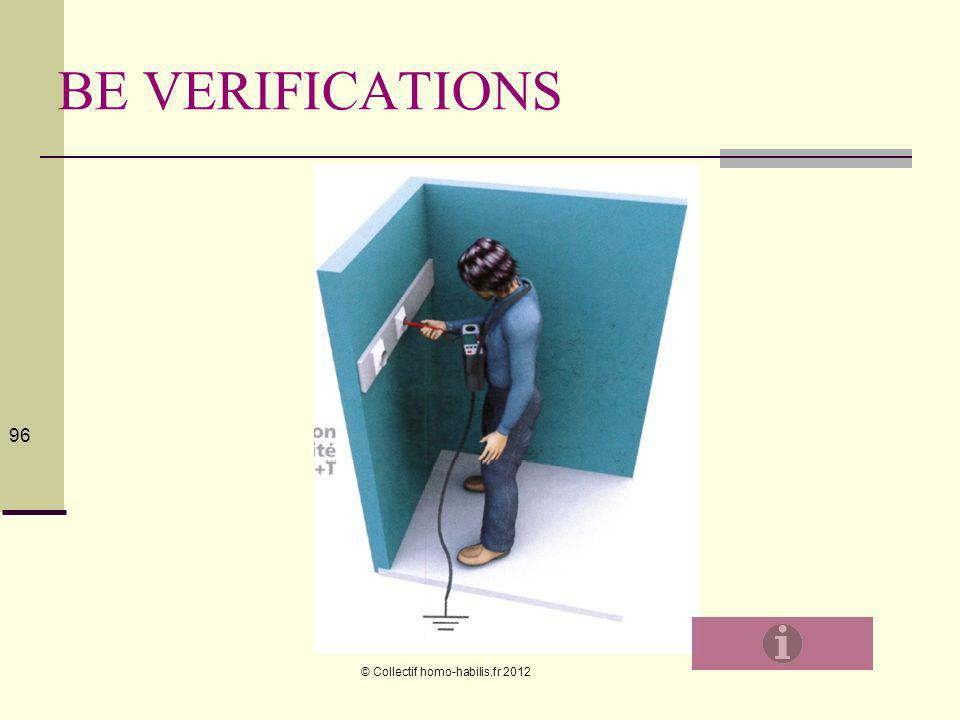 BE VERIFICATIONS © Collectif homo-habilis.fr 2012